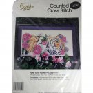 Golden Bee 60459 Counted Cross Stitch KIT Tiger and Roses Picture