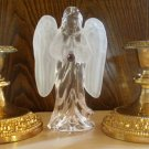 Crystal Angel & Bronze Candle Holder Set