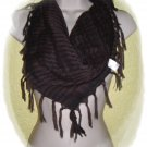 Plaid Scarf Brown/Black. *FREE SHIPPING WHEN YOU BUY ANY PIECE OF CLOTHING*