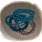 Bracalets Teal/Silver Color *FREE SHIPPING WHEN YOU BUY ANY PIECE OF CLOTHING*
