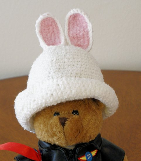 Newborn - White Bunny Easter Hat