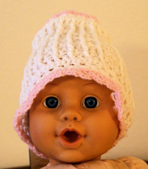 Newborn Girl's Baby Bonnet