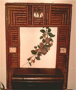 Willow Frame/with birch bark inlays
