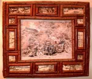 """Handmade Frame with Bark-14""""X17"""""""