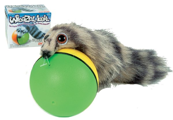 Weazel Ball new weasel pet dog cat toy looks alive NEW