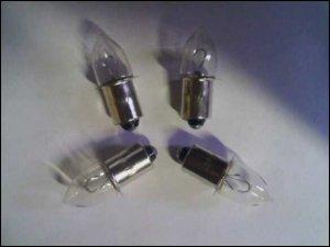4 18 Volt Flashlight Bulbs BLC 60018x 18V fits DeWalt