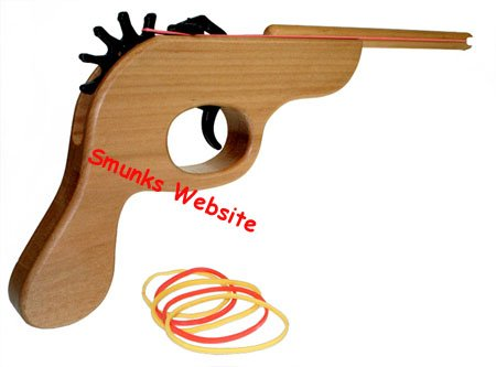 The Original Rubber Band Gun shooter wooden wood pistol