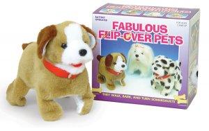 Sparky Flip Over Dog pet puppy walks barks NEW jumping