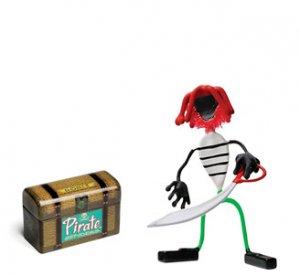 Redbeard Pirate Bender Action Figure Benders Magnet Toy