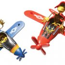 Red Barron Flying Ace Monkey Bender Tin Toy Plane NEW