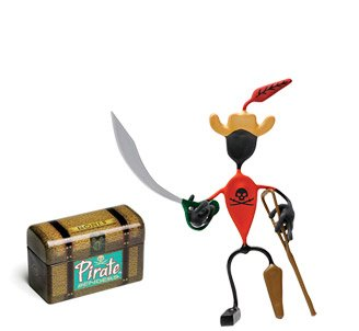 Peg Pirate Bender Action Figure Benders Magnet Toy NEW