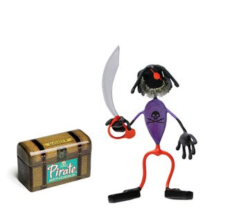 Patches Pirate Bender Action Figure Benders Magnet Toy