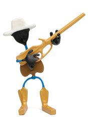 Marshall Wild West Bender Toy Tin Rifle Boots outlaw