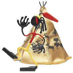 Iron Eagle Wild West Bender Toy Tin Indian Tee-Pee fun