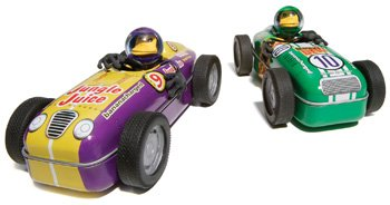 Green #10 Motorized Hot Rod Monkey Bender Tin Race Cars