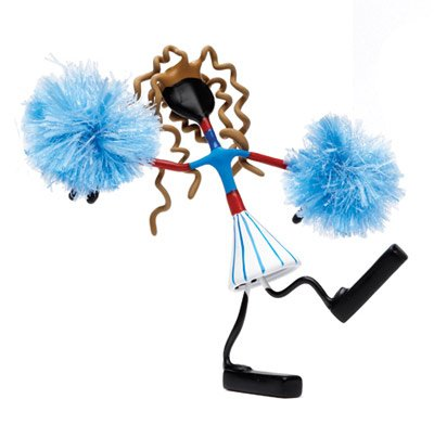 Debbi Brunette Cheerleader Bender Toy Pom Poms Tin NEW