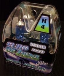Blue H4 Xenon Krypton Gas Headlights clear white light