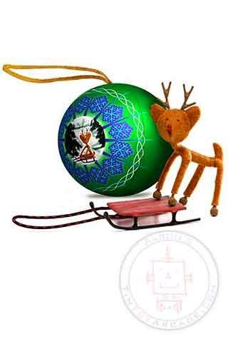 Sledding Rudolph Bender Ornament Christmas tree figure