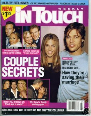 In Touch 2/17/03 Simon Cowell David Hasselhoff