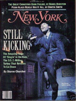 New York Magazine 10/14/85 Singin' in the Rain, Christo