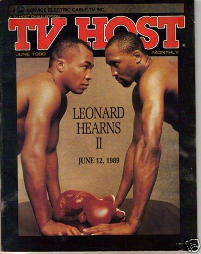 Sugar Ray Leonard-Hearns Val Kilmer Local TV Guide 6/89