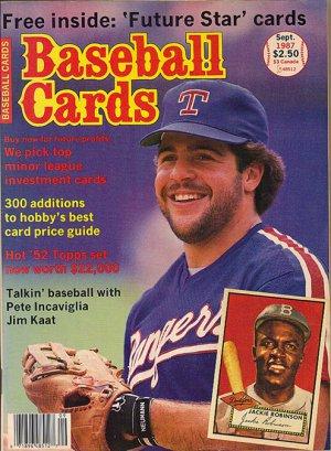 Baseball Cards September 1987, Pete Incaviglia Jim Kaat