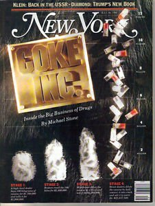 New York Magazine 7/16/1990 The Business of Drugs, Donald Trump, Joshua Bell