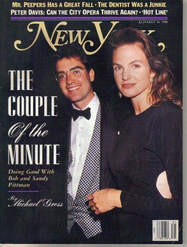 New York Mag 7/30/1990 Bob & Sandy Pittman New York City Opera Adrienne Shelly