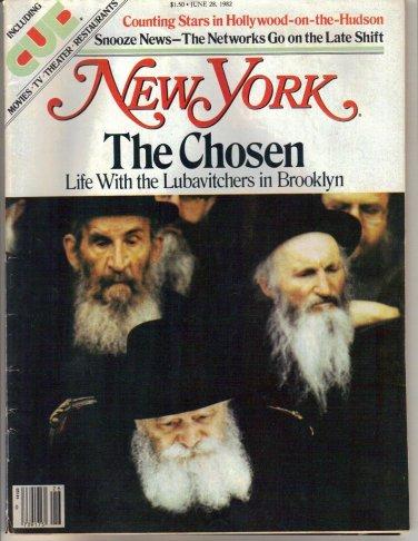 New York Magazine 6/28/1982 Lubavitchers Hollywood-on-the-Hudson Late-Night News