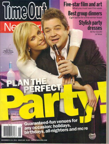 Time Out NY 12/8/11 Patton Oswalt Charlize Theron Stephen Merchant Dominic West