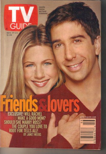 TV Guide 11/17/2001 Friends Jennifer Aniston David Schwimmer Facts of Life