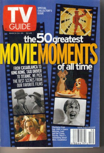 TV Guide 3/24/01 Greatest Movie Moments Aaron Carter South Pacific Emma Thompson