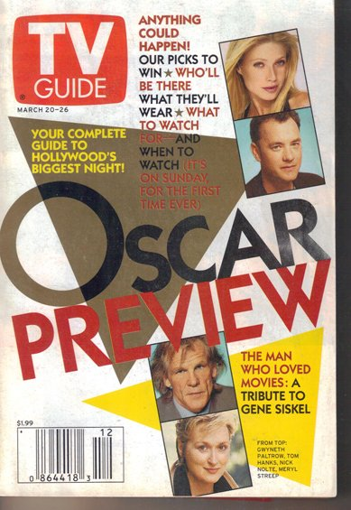 TV Guide 3/20/1999 Oscar Preview Gene Siskel Teletubbies