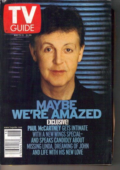 TV Guide 5/5/2001 Paul McCartney Anne Robinson Beyonce Johnny Cash