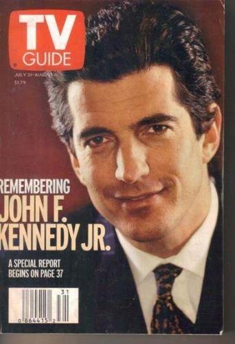John F Kennedy JFK Jr. TV Guide 7/31/1999 Buffy the Vampire Slayer Seth Green