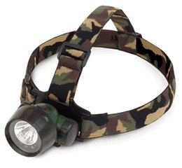 2-in-1 Krypton/3 LED Headlamp in Camoflage