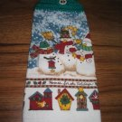 Handcrafted Kitchen Towels Christmas Design Snowmen ~ T5