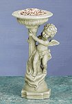 27073 Alabastrite Cherub With Birdbath