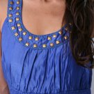 NECKLACE RUCHED BLOUSE