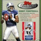 2007 Topps Finest Football Hobby Factory Sealed 3 Autos