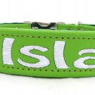 One inch personalized leather dog collar with nylon back (Sizes 12-22) By Ruggit Collars