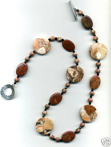 Red Fossil Coral Cecklace
