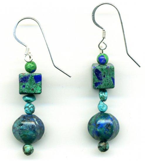 Azurite-Malachite Earrings