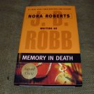 MEMORY IN DEATH  J. D. Robb 2006 SIGNED COPY HC Dj 1st ED 1st Print