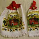Kitchen Hand Towels Country Barn Yard FREE SHIPPING