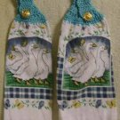 PAIR of Kitchen Hand Towels Geese FREE SHIPPING