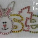 Rhinestone Transfer Hot Fix Iron On EASTER BUNNY PASTEL