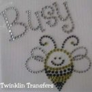 Rhinestone Iron On Transfer BUSY BEE BUMBLEBEE BUG