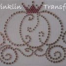 Rhinestone Iron On Transfer PUMPKIN PRINCESS CARRIAGE
