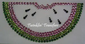 Rhinestone Transfer Hot Fix Iron On PINK WATERMELON